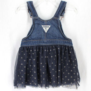 OshKosh B'gosh Dresses - Oshkosh BGosh Bib Overall Jumper Dress Blue Tulle